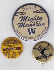 Washington Huskies Football Pin Pinback Button Badge Lot (3)