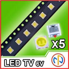 5X LED RETROILLUMINAZIONE TV 2W 6V LG 3535 ALTA QUALITA'