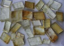 500g (About 6-15pcs) YELLOW Optical Calcite Crystal Iceland Spar transparent