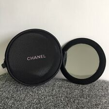 *New CHANEL BEAUTE Black Mesh Makeup Cosmetic Bag with Mirror