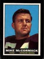 1961 TOPPS #72 MIKE MCCORMACK EXMT (WAX) BROWNS HOF *SBA11435