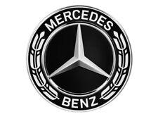 4 orig Mercedes Benz Rad Naben Abdeckung Kappen Deckel Stern Lorbeer Kranz black