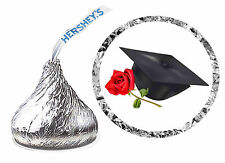 216 GRADUATION PARTY FAVORS HERSHEY KISS LABELS CAP AND ROSE