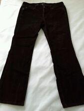 Ann Taylor Loft Women's Modern Boot Brown Stretch Corduroy Pants 12P