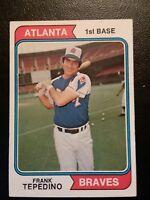1974 Topps Frank Tepedino #526 Atlanta Braves Baseball Card