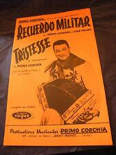 Partition Recuerdo Militar Primo Corchia Tristesse Music Sheet
