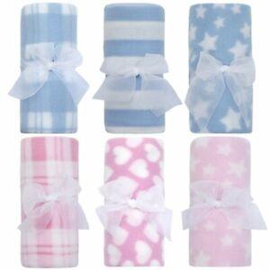 Soft Newborn Baby Boy Girl Fleece Blanket Pram Crib Moses Basket Lightweight