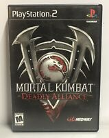 Mortal Kombat: Deadly Alliance Sony PlayStation 2, PS2 Black Label Complete!