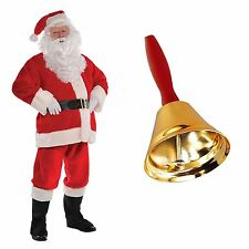 BLACK FRIDAY Mens Deluxe Plush Santa Suit Father Christmas Fancy Dress Costume