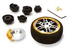 C26405BLACKGOLD D6S Steering Wheel Set for Most HPI, Fut, Air, Hitec KO