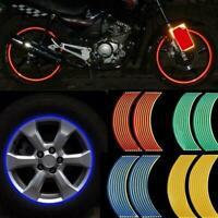 16 Strips Reflective Motorcycle Car Rim Stripe Wheel Sticker Hot Decal Tape V8Y1