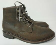 Allen Edmonds Higgins Mill Brown Leather Plain Toe Men's Boots Size 9.5 D
