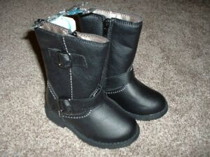 Carter's Erica Erica2 Black Boots Infant Baby Girls Shoe Size 6 Buckle Zip NWT