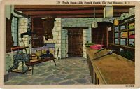 Vintage Postcard - Old French Castle Trade Room Niagara Falls New York NY #3689