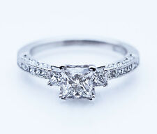 NEW TACORI $11,000 PRINCESS CUT 18K 1.59ctw EGL SI1 I Eng Ring