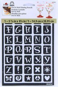 Plaid FolkArt Peel & Stick Painting Stencils Reusable Fun Alphabet Letters 30454