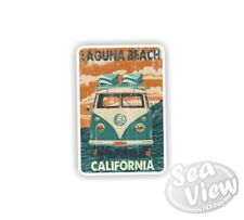 Volkswagen Laguna Beach Retro VW Camper Splitscreen Car Van Decal Funny Sticker
