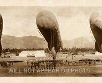 1919 Blimps, Balloons at rest,  Arcadia California Vintage Panoramic Photograph