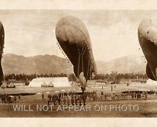 1919 Blimps, Balloons at rest,  Arcadia California Vintage Panoramic Photograph
