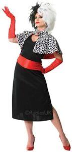 Rubie's Official Cruella De Vil, Adult Costume Movies TV Size Small (UK 8-10)