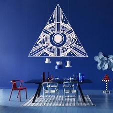 Wall Decal Illuminati All Seeing Eye Annuit Coeptis Symbols God Triangle M1109