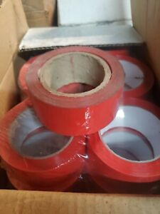 """36 Rolls Red Color Packing Tape 2"""" x 55 Yds Carton Sealing Tape  1.00 Roll"""