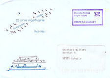 GERMAN 25 YEARS OF BIRD LINE A COVER BEARING COMMEMORATIVE CACHE