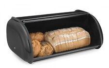 Polder Deluxe Stainless Steel Black Bread Box Storage Bin Food Container Kitchen