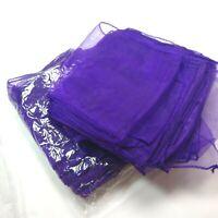 20 Organza Chair Sashes Bows sash for Wedding or Events Banquet purple sheer