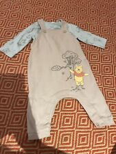 Disney Baby Boy Winnie The Pooh Dungarees Outfit - Size 3-6 Months