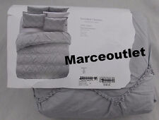 SKY Home Smocked Chevron Collection FULL / QUEEN Duvet Cover Gray