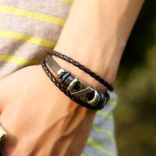 Schön Unisex Punk Retro-Stulpe-Armband Leder Stud Bracelet Valentinstag Geschenk