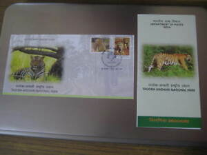 India 2016 First Day Cover on Tadoba Tiger National Park w/ canceled brochure