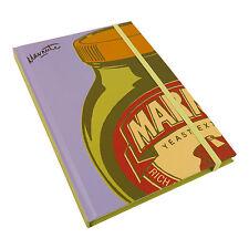 A5 MARMITE POP ART HARDBACK NOTEBOOK VINTAGE LINED PAPER PAD GIFT LOVE HATE BOOK