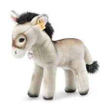 More details for steiff 072987 back in time eselie the grey donkey 25cm