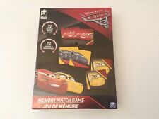 DISNEY PIXAR CARS 3 MEMORY MATCH GAME 72 CARDS - NEW & SEALED