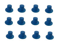 "Pack of 12 VTG Darice Miniature 1/"" Black Plastic Top Hats for Crafts or Dolls"