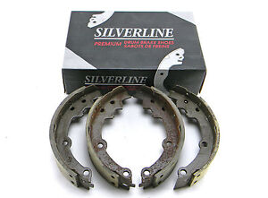 SET OF 4 SILVERLINE UBP 521R REAR RELINED BRAKE SHOES MADE IN USA ( DRUM BRAKE)