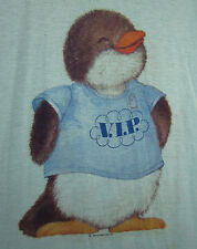 SHIRT TALES small Penguin vtg girls nightgown Hallmark 1980 Critter Sitters VIP