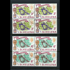 ST HELENA. 1966 World Cup. SG 205-206. Fine Used Block of Four. (AB492)