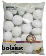 Bolsius 732521 Floating Candles White Bag - 20 Piece