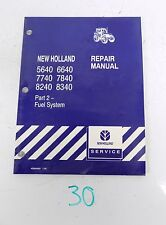 New Holland 5640 6640 7740 7840 8240 8340 Tractor Service Manual Part 2 ONLY