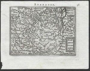 Brabant Antwerpen Hasselt map Karte carte Ortelius gravure Kupferstich 1593