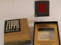 vintage coca cola measured tape zippo rule rare 1960 approx niagara falls in box