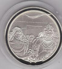 NEW ZEALAND 2003 SILVER PROOF DOLLAR ARAGORN'S CORONATION LORD OF THE RINGS