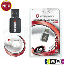 ► Octagon WL008 WLAN USB 2.0 Adapter WiFi Wlan Stick 150 Mbit/s