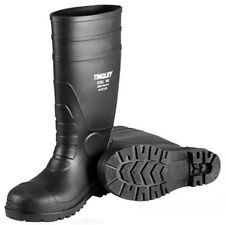 Tingley Rubber 31251.11 11 PVC Steel Toe Sock Boot, Black