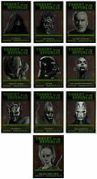 2015 Star Wars Chrome Perspectives Threat to the Republic 10 Card Set Jedi Sith