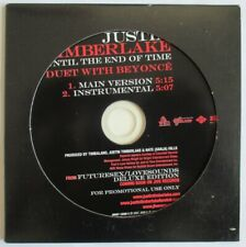 """JUSTIN TIMBERLAKE - PROMO SINGLE CD """"UNTIL THE END OF TIME"""" - DUET WITH BEYONCÉ"""