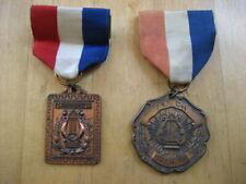 Vintage Orch. 65 1st Chair Award Pinback Heavy Bronze Medal/Pin Plus Bonus Medal